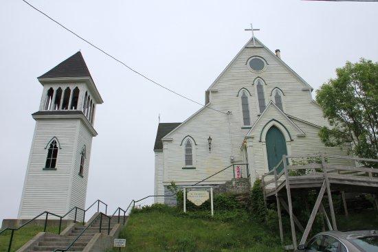 Brigus, Kanada: Church and bell tower