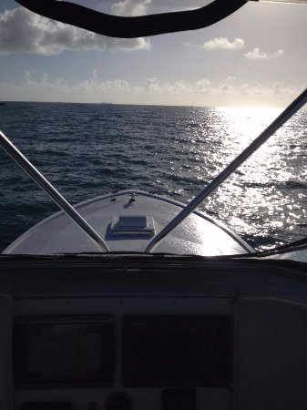 Sunset View From Our Charter Boat Picture Of Sea Cross