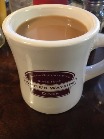 White's Wayside: Fresh cup of coffee at Whites Wayside
