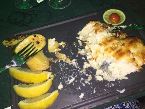 las Palmeras: Vis met honing en de zeevruchten paella