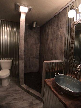 Mason, TX: Bathroom in Shop room with walk in shower