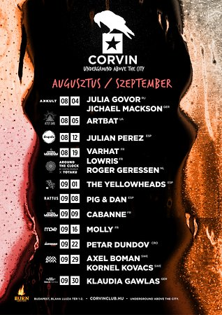 Corvin Club: schedulde 08-09/'17