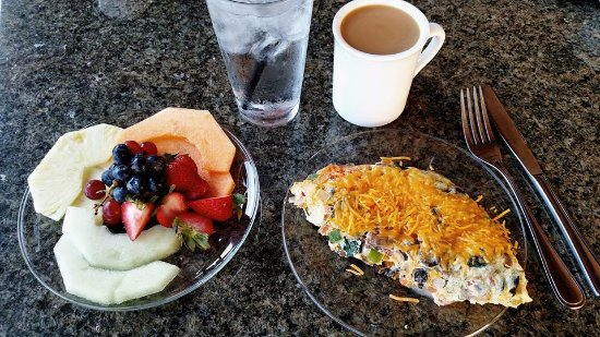 H. Toad's Bar & Grill: Fruit Plate and Omelet-photo provided by guest