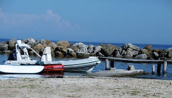Katelios, Greece: jetty on beach
