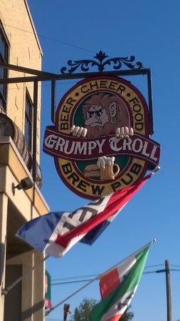 Mount Horeb, WI: Grumpy Troll sign