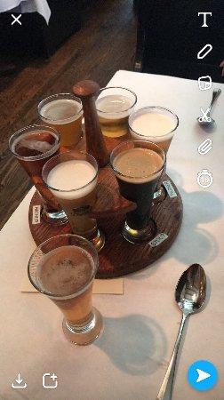 Trap Rock Restaurant & Brewery: Sampling the beers