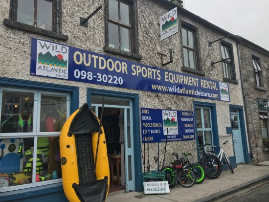 Wild Atlantic Leisure shop on Brdige Street in Louisburgh