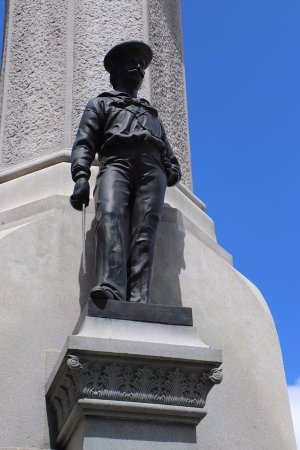 Soldiers and Sailors Civil War Monument: A marine