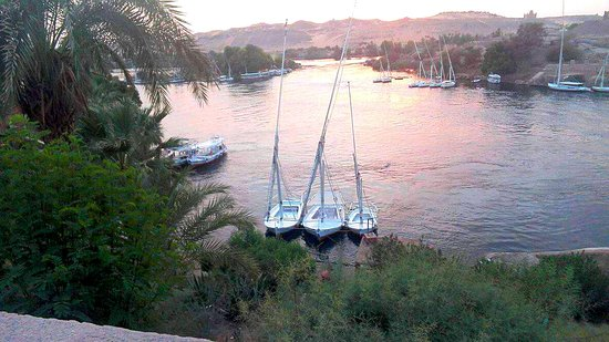 Sofitel Legend Old Cataract Aswan: The view over the first catarct of the Nile