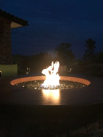 Hotel has a couple of areas offering nice fire pit.