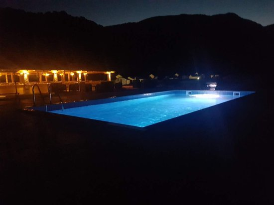 Foca, Bosnia-Hercegovina: Night view