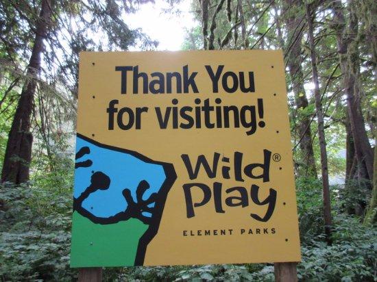 WildPlay Element Parks Maple Ridge : Signage & Entrance