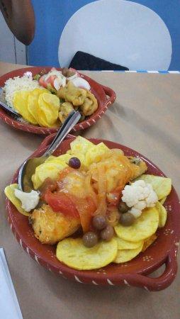 Rocha's Café Bar: I due piatti di baccalà ordinati