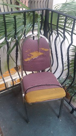 Hotel St. Marie : One of the two chairs on our balcony.