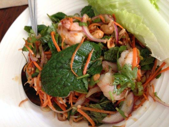 Larb Prawn ($9) at Larb Thai Food & Tapas in El Cerrito.