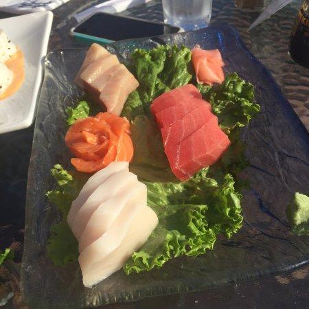 Kodiak Hana Restaurant: The chef's choice sashimi - very good!
