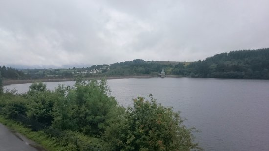 Brecon Mountain Railway : View across the reservoir from Pontsticill station.
