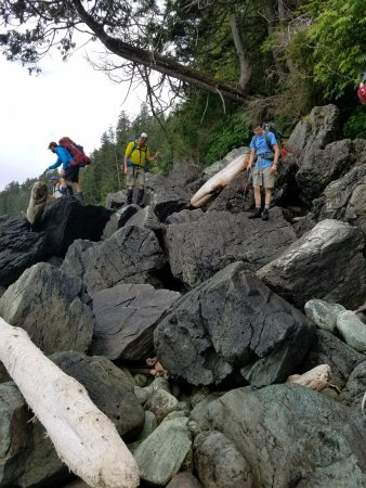 BCA Tours: Boulder field is one of the more challenging parts of the trek
