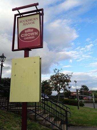 Bucksburn Manor: Rusting Stair Bannisters, Missing Advertising Panels   Yes  Itu0027s A Crown Carvery