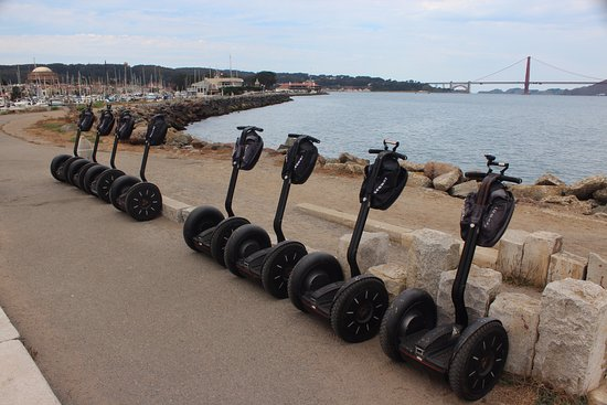 City Segway Tours San Francisco : Our Segways parked up at one of the photo points.