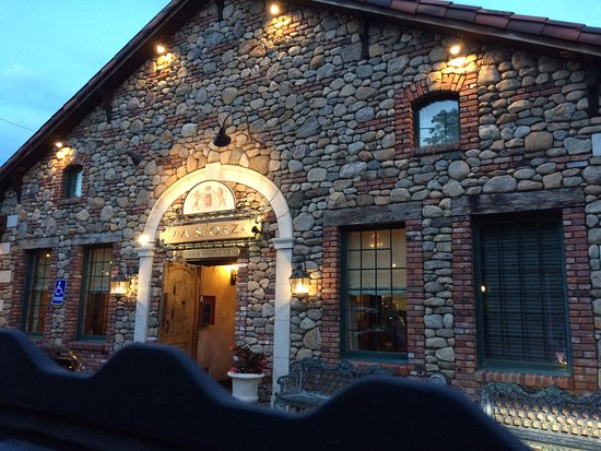 Westport, CT: The entry to the Via Sforza resembles an ancient Italian stone farmhouse