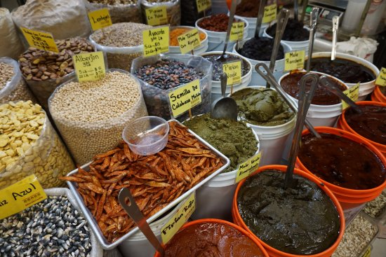Melting Pot Food Tours: Mole, beans, rice at the market