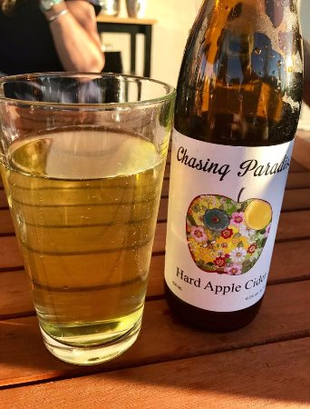 """Chasing Paradise"" hard apple cider, made just down the street in Driggs."