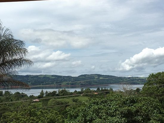 Nuevo Arenal, Costa Rica: View of Lake Arenal from our Balcony, porch and terrace