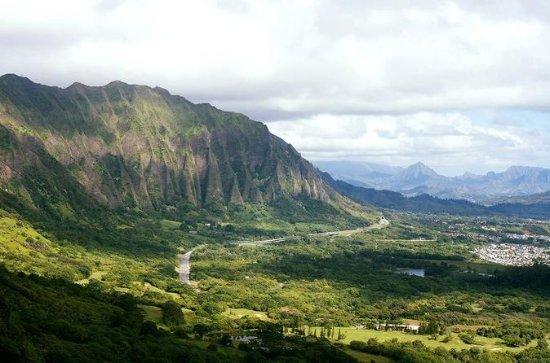 Ilha de Oahu Circle com Pearl Harbor...