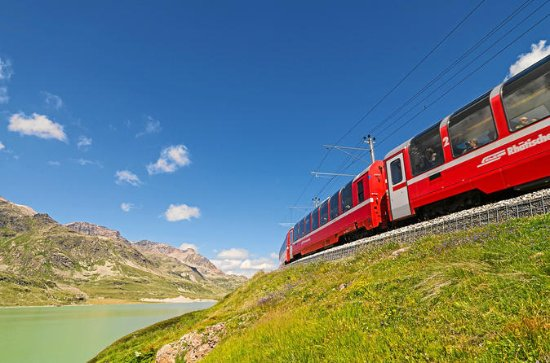 Bernina Express Great Train Journey from St. Moritz to Tirano