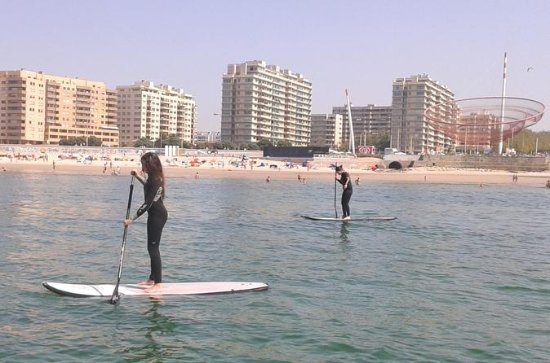 Aula particular de stand-up-paddle...
