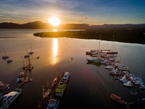 Sunsetting over the Marina in Fiji