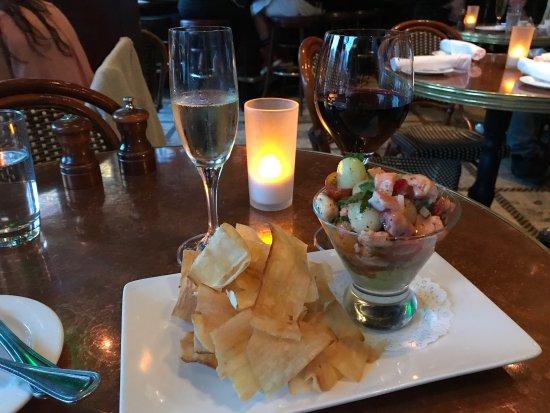 Absinthe Brasserie & Bar: Superb ceviche!!!! Filoreto sardonic!!