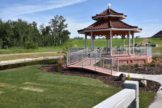 Westlock Meditation Center Nice Architectural Gazebo With Beautiful Landscape View
