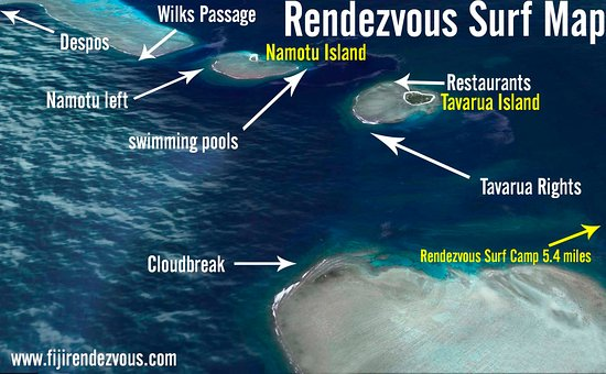 Tavarua Fiji Map Surf Map   Picture of Rendezvous Surf Camp Fiji, Nadi   TripAdvisor