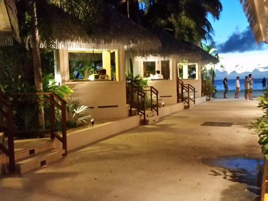 Chalan Kanoa, Mariana Islands: Private outdoor dining areas