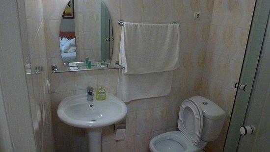 Vila Iris: В ванной всего один шампунь.