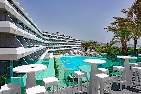 Santa Mónica Suites Hotel: Aussicht von der Chill Out Terrasse