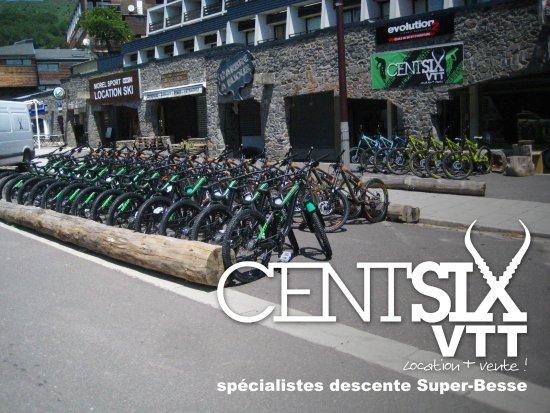 CentSix Snowscoot: la devanture de notre Shop Centsix VTT l'été
