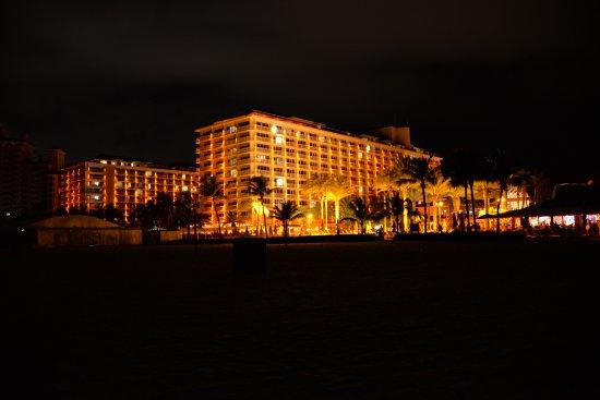 Beach at night time