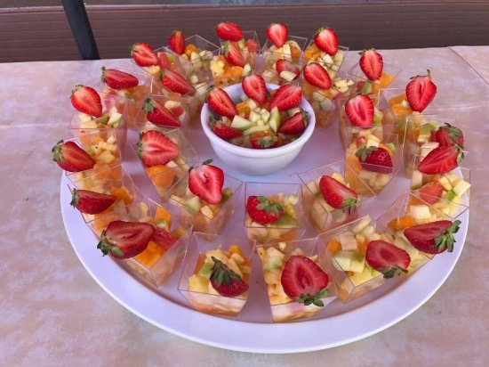 Evolene, Schweiz: salade de fruits frais