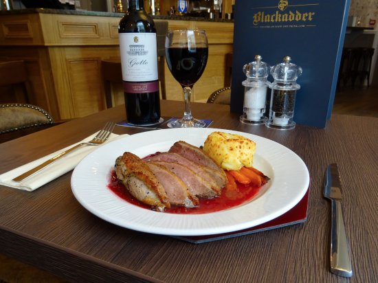 Greenlaw, UK: Pan fried duck breast in plum sauce
