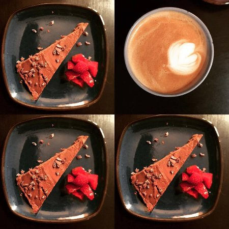 Valby, Denmark: Chocolate Tart and Kaffe Latte