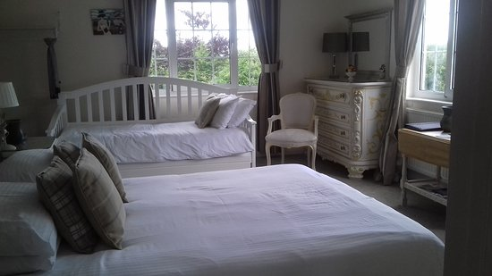 Dovers House: Edgcumbe Room. Dual aspect with day/single bed.