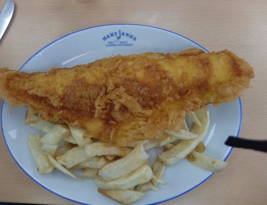 Mary Jane's Fish Bar & Restaurant: Haddock and Chips
