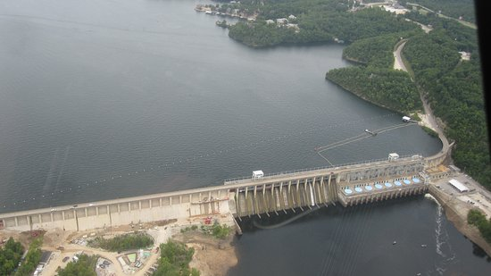 Lake Ozark, MO: Bird's eye view of the dam