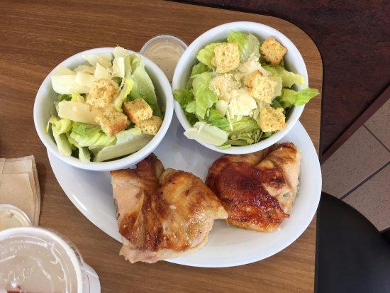 1/2 dark Caesar salads