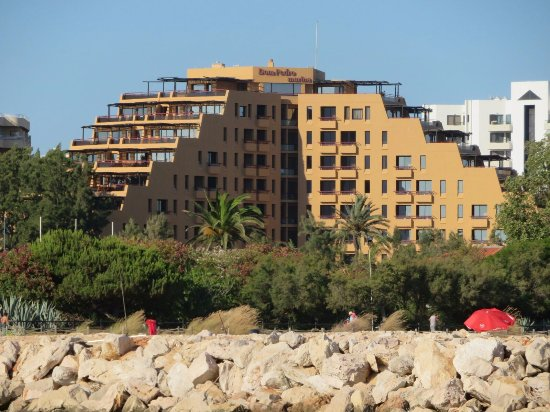 Dom Pedro Marina: Taken from a boat, a view of the hotel