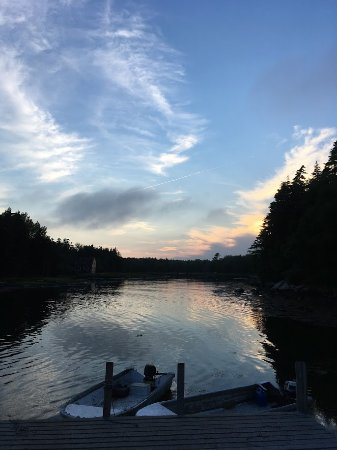 Spruce Head, ME: Sunset at Miller's Lobster