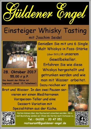 Hockenheim, Alemania: Whiksy Tasting